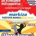 Markíza Poštová Banka Cup 2003 poster