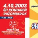 Markíza Poštová Banka Cup 2003 ticket